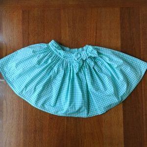 Full gingham skirt for little ladies